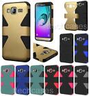 DYNAMIC Hybrid RUBBER SKIN + Hard Cover Case For Samsung Galaxy J3 cell phone