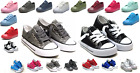 Внешний вид - New Lace Up Low Top Youth Kids Boy Girl Canvas Shoes Walking Comfort 8 Colors