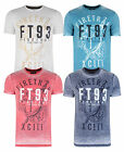 Firetrap Printed T-shirts New Men's Vintage Crew Neck Cotton Tee