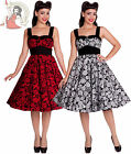 HELL BUNNY 50's ARCADIA ROSE anchor DRESS RED WHITE