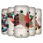 HEAD CASE DESIGNS PATTERNED MAPS HARD BACK CASE FOR HTC ONE MINI 2