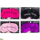 Novelty gift Travel sleeping eye mask black shade blindfold funny  UK