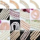 Strand Genuine Natural Round Ball Fresh Water Pearl Loose Bead Charm Finding DIY