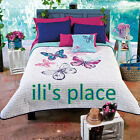 Twin,Full/ Queen Size Girls and Teens Butterfly Comforter Set
