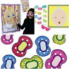 Pin The Dummy Pacifier Game Baby Shower Party Neutral 12 Players Extra Dummies