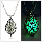 Chic Hollow Drop Pendant Luminous Glow In The Dark Locket Necklace Jewelry Gift