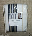 Store House 1 standard Quilted navy white beige tan striped pillow sham 21 X 27
