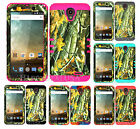 KoolKase Hybrid Silicone Cover Case for ZTE Avid Plus Z828 - Camo Mossy 08