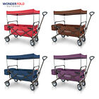 WonderFold Outdoor Value Model Collapsible Folding Wagon w Canopy Safety Feature