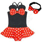Baby Girl Minnie Mouse Summer Bathing Suit Swim Wear Childs Headband Costume Set