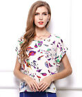 New Fashion Short Sleeve Chic Chiffon T Shirt Casual Tops Ladies' Summer Blouse