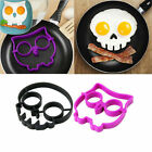 Hot Silicone Skull Owl Egg Fried Mould Shaper Ring Glamor Kitchen Cooking Tools
