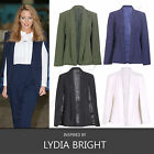 Womens Celebs Cape Blazer Coat with Collar Ladies Bloggers Jacket Cardigan 8-16