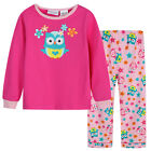 Pyjamas Girls Winter Cotton Flannel (Sz 3-7) Pjs Set Berry Pink Owl Sz 3 4 5 6 7