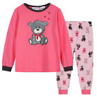 Pyjamas Girls Winter Cotton Knit Pjs (Sz 3-7) Set Melon Pink Teddy Bear Sz 3 4 5