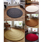 Think Rugs Spiral 100% Wool Hand Carved Round Rug