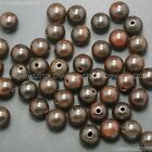 Natural Mahogany Wood Round Ball Beads 10mm 12mm 15mm 18mm 20mm Healing Bracelet
