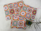 Handmade Purse or Cosmetic Bag Crochet patchwork print fabric, Choice of size
