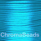 Rattail Satin Nylon Cord 2mm. Choose colour &amp; length, kumihimo shamballa macrame <br/> Choice of 65 colours, in lengths 2m, 5m, 10m, 20m