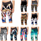 Women's Capri Leggings Gym Yoga Jogging Running Pants Sailor Moon print leggings
