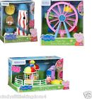 New Peppa Pig Theme Park Balloon Ride Helter Skelter Ferris Wheel Playset Toy 3+