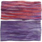 FAIR TRADE COTTON HAIRBAND HEADBAND BANDANA TIES WRAP BOHO HIPPY - 2 PACK
