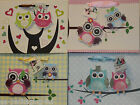 Owl printed handcrafted gift bags 23x17.5x10cm - 4 designs- Pack of 12