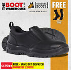 Mongrel Work Boots 315085, Slip-On Executive, Stylish, Toe Cap Safety Shoes,