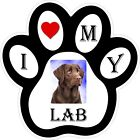 Chocolate Lab Dog Paw Decal / Sticker