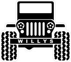 Willys Jeep Decal Bumper Sticker