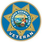 California Highway Patrol CHIP Veteran Vet Decals / Stickers
