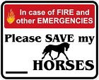 In Case of Fire Save My Horses Decals / Stickers