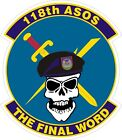 US Air Force USAF 118th ASOS Squadron Decal / Sticker