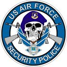 US Air Force USAF Security Police Skull Decal / Sticker