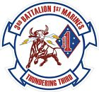 USMC Marine Corps 3rd Battalion 1st Marine Regiment Decal / Sticker