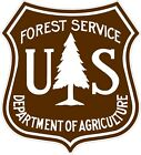 U.S. Forest Service Brown and WhiteDecals / Stickers