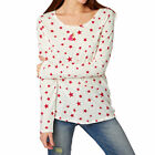 Maison Scotch Tops - Maison Scotch Star Print Long Sleeve Tee  - White/Red