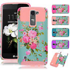Hybrid Rugged Shockproof Rubber Hard Phone Case Cover Stand for LG K7 /Tribute 5