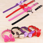 1PC Adjustable Cute PU Leather Knit Bowknot Vogue Dog Puppy Pet Collars Necklace