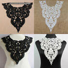 1 PC Fabric Lace Flowers Collar Trim White Polyester Sewing Applique Craft