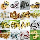 10x Silver/Gold Plated Coin Crystal Loose Spacer Finding Bead DIY 4/6/8/10/12mm