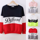Womens Casual Loose Hooded Thick T-Shirt Pullover Colored Long Sleeve Sweatshirt