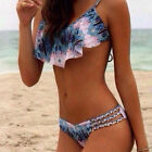 Sexy Womens Lady Print Push Up Padded Swimwear Bikini Set Swimsuit Beachwear