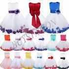 Flower Girl Bow Dress Kids Princes Party Pageant Wedding Bridesmaid PetalGown