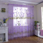 1 Pc Window Voile Curtain Sheer Alocasia Flower Printed Drape Panel 100*270cm
