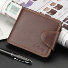 Men's Quality Leather Billfold Button Coin Bag Wallet Credit Card Holder Purse
