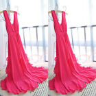 New Summer Women Sexy Bohemian V Neck Chiffon Ball Evening Party Long Maxi Dress