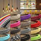 1M/3M/5M/10M 3 Core Vintage Color Twist Braided Fabric Cable Wire Electric Light