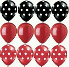 Ladybug Black Red Latex Balloons Mickey Minnie Foil Shower Birthday Party Supply