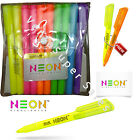 Pen-Style 6 Fluorescent NEON Bright Colors Highlighters Office School Supply